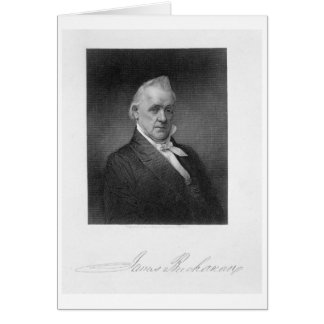 James Buchanan, grabado por Henry Bryan Pasillo (1 Tarjeta De Felicitación