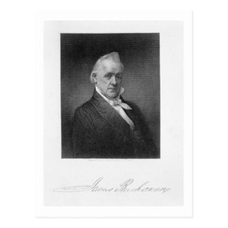 James Buchanan, grabado por Henry Bryan Pasillo Postal