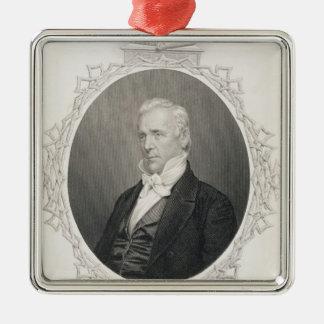 James Buchanan Metal Ornament