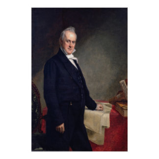 JAMES BUCHANAN Porrtrait by George P.A. Healy Poster