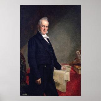 JAMES BUCHANAN Porrtrait de George P.A. Healy Póster