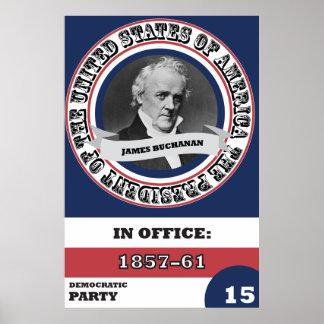 James Buchanan Presidential History Poster