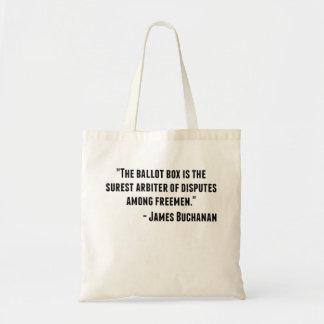 James Buchanan Quote Budget Tote Bag
