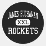 James Buchanan - Rockets - altos - Mercersburg Pegatina Redonda