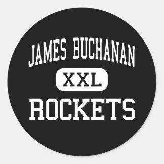 James Buchanan - Rockets - High - Mercersburg Classic Round Sticker