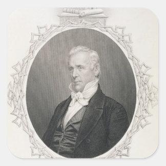 James Buchanan Square Sticker