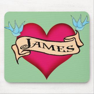 James - camisetas y regalos de encargo del tatuaje alfombrilla de raton