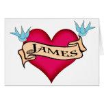 James - camisetas y regalos de encargo del tatuaje tarjetón