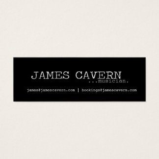James Cavern Business Card
