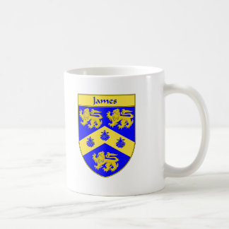 James Coat of Arms/Family Crest Coffee Mug