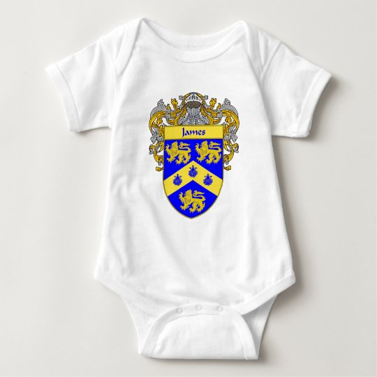 James Coat of Arms (Mantled) Baby Bodysuit