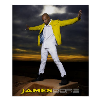 James Dore' Poster Arms Wide Yellow Jacket