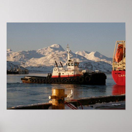 James Dunlap Tugboat In Dutch Harbor Alaska Poster