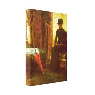 James Ensor - Dejected Lady Gallery Wrap Canvas