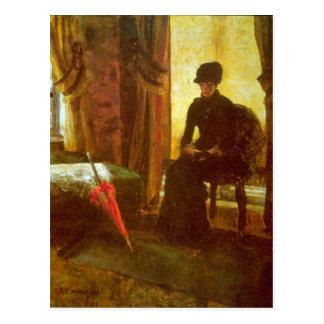 James Ensor - Dejected Lady Postcard