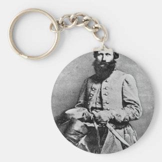 James Ewell Brown Stuart circa 1833-1864 Basic Round Button Keychain