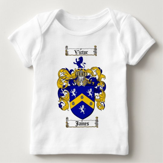 JAMES FAMILY CREST -  JAMES COAT OF ARMS BABY T-Shirt
