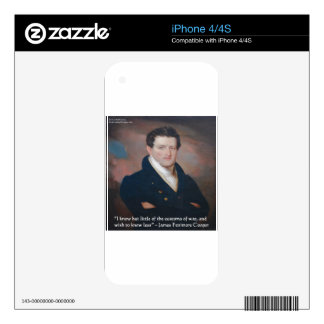 James Fenimore Cooper War Quote Decal For The iPhone 4S