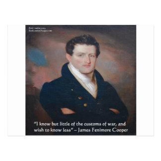 James Fenimore Cooper War Quote Postcard