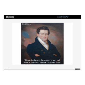James Fenimore Cooper War Quote Skin For Laptop