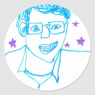'James Franco with Glasses' Sticker