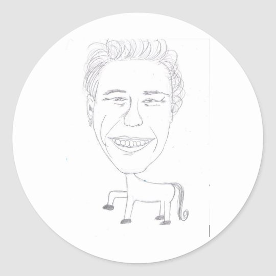 'James Franco with the Body of a Horse' Sticker