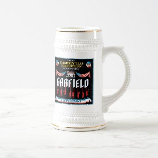 James Garfield 1880 Campaign Stein Mug
