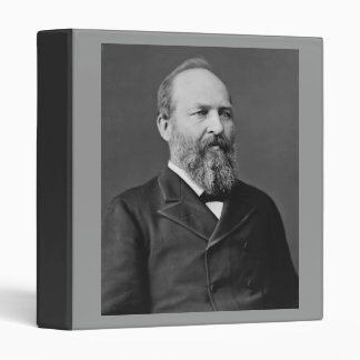 James Garfield 20th President Binder