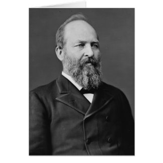 James Garfield 20th President Card
