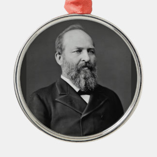 James Garfield 20th President Metal Ornament