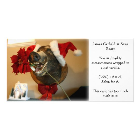 James Garfield Christmas photo card