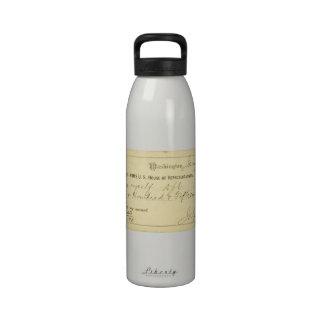 James Garfield firmó el control a partir del 25 de Botella De Agua Reutilizable