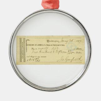 James Garfield firmó el control a partir del 25 de Ornamento Para Arbol De Navidad