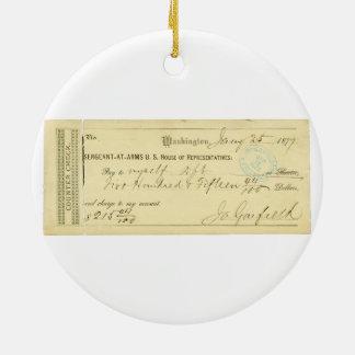 James Garfield firmó el control a partir del 25 de Ornamentos De Reyes Magos
