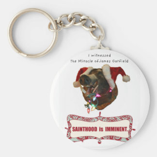 James Garfield:Patron Saint of Accidental Miracles Basic Round Button Keychain