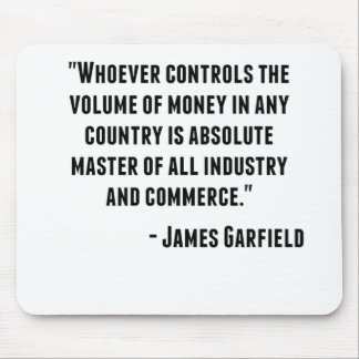 James Garfield Quote Mouse Pad