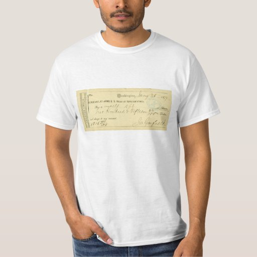 James Garfield Signed Check from January 25th 1877 T-shirt