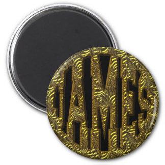 JAMES - GOLD TEXT MAGNET
