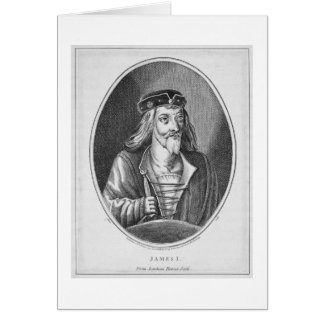 James I (1394-1437), King of Scotland, from Johnst Card