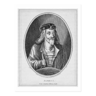 James I (1394-1437), King of Scotland, from Johnst Postcard