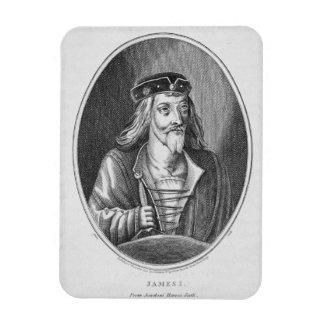 James I (1394-1437), King of Scotland, from Johnst Rectangular Photo Magnet