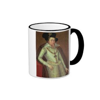 James I (1603-25) and VI of Scotland (1567-1625) Ringer Coffee Mug