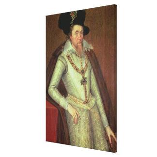 James I 1603-25 y VI de Escocia 1567-1625 Lona Estirada Galerías