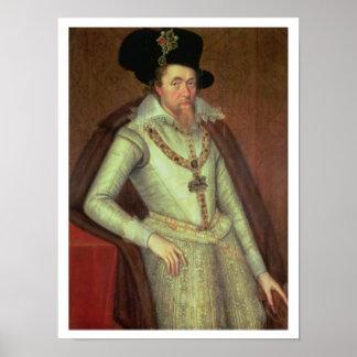James I 1603-25 y VI de Escocia 1567-1625 Posters