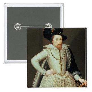 James I, half-length portrait Button