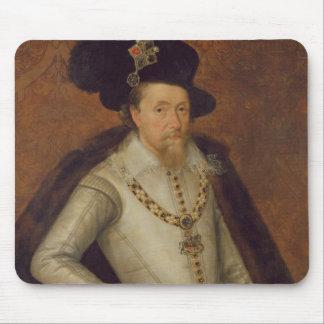 James I of England, and VI of Scotland Mouse Pad