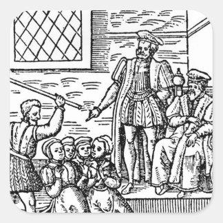 James I  of England and VI of Scotland Square Sticker