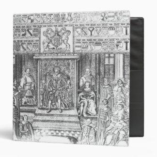 James I of England  at Court 3 Ring Binder