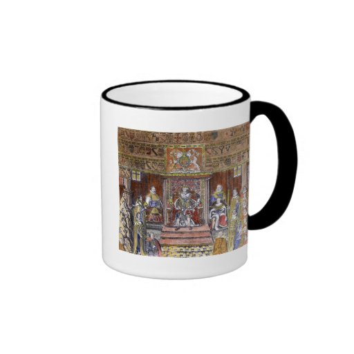 James I of England  at Court, Coffee Mugs