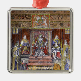 James I of England  at Court, Metal Ornament